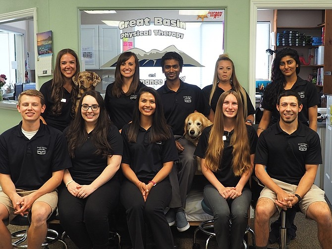 Ashwin Datt and his staff-family at Great Basin Physical Therapy