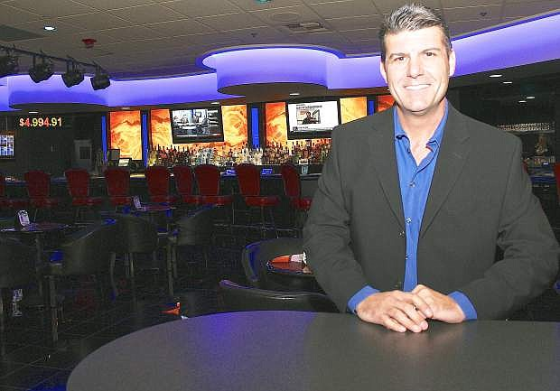 Dean DiLullo, CEO of M1 Gaming, at the newly renovated Guitar Bar at Boomtown.