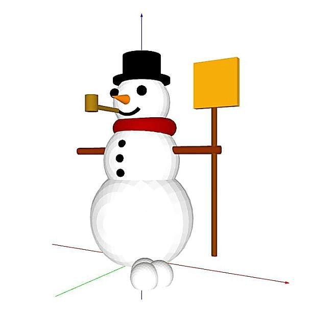 The 3-D snowman designed by NCLab student R. Shaver can be viewed at 360 degrees.