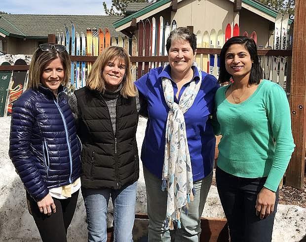 Kristi Bohm, Peggy Headley, Jo Ann Woodsum abd Aparna Reddy are a few members of the Truckee Tahoe Women Lawyers Group serving the community.