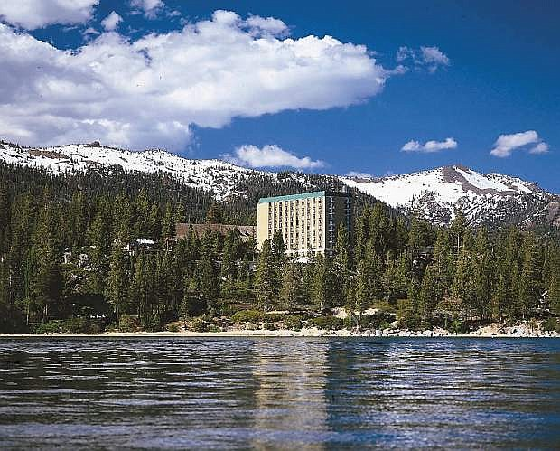 A look at the famed Cal Neva from Lake Tahoe.