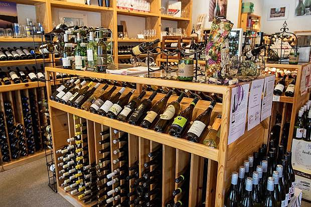 In addition to wines, The Cork and More stocks quality wine glasses, cheeses and deli foods.