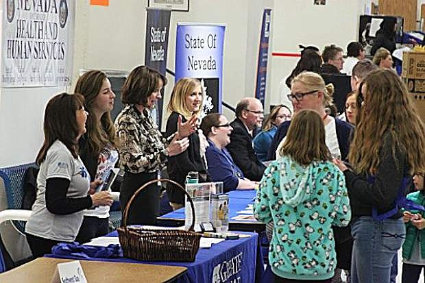 Attendees visit with vendors at the 2017 Career & Technical Education Career Expo at Carson High School. The 2018 Expo is set for Wednesday, Feb. 28.