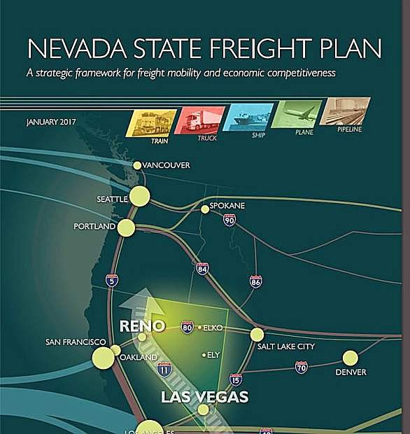 A map of Nevada's Freght Plan coverage areas.