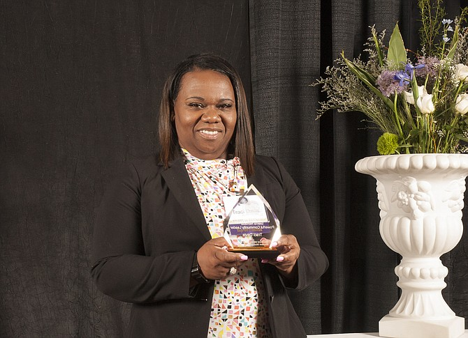 Traci Davis, superintendent of Washoe County School District, with the 2018 Sierra Nevada Powerful Community Leader Award.