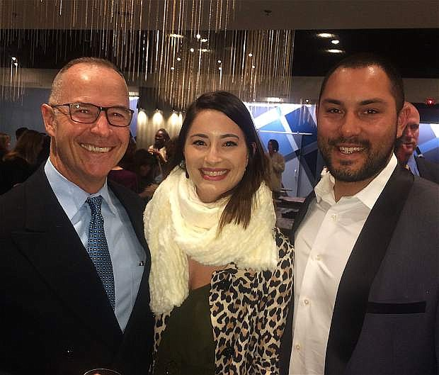 Craig Etem, left, Veronica Peterson and Bryan Peterson helped celebrate at the Twenty under 40 awards event Nov. 17 at the Renaissance Reno Downtown Hotel.