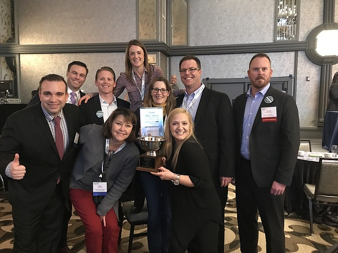 Members of the Northern Nevada NAIOP team, including Chapter Executive Randi Reed in front, were honored in mid-February in Washington, D.C.