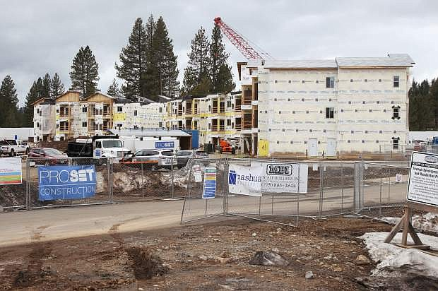 Construction on a 138-unit residential project broke ground last fall with its completion aimed for September.