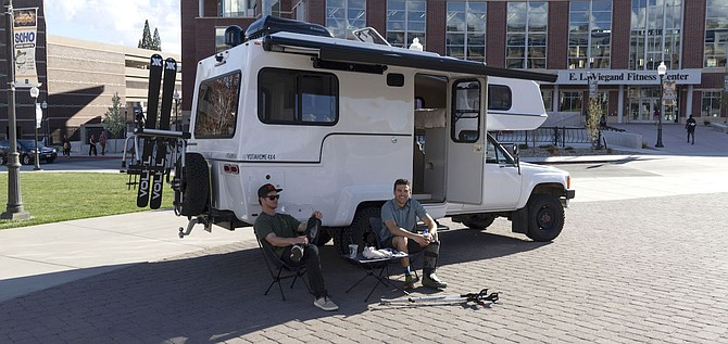 Sturn Designs, winner of the 2019 Sontag Entrepreneurship Competition, designs outdoor campers like this one, seen in 2019. The company, now known as TruckHouse, officially launched this January.