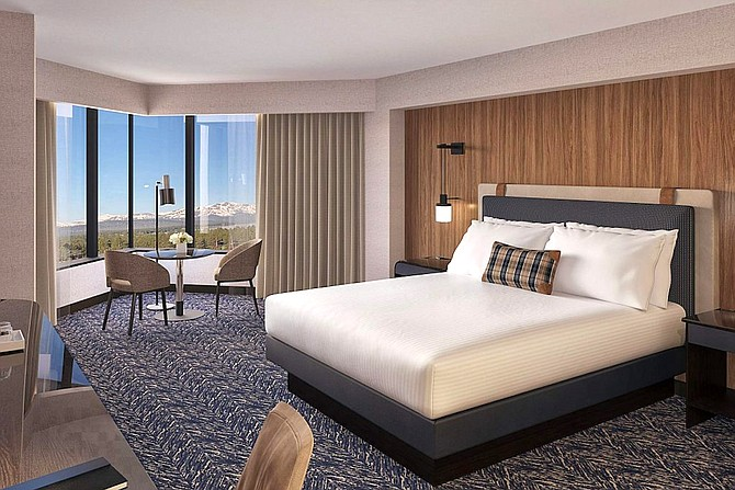 A look at what one of the renovated rooms will look like upon completion in 2020.