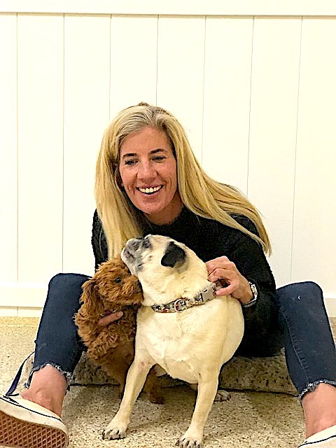Stacy Kixmiller, with Riva and Henry.