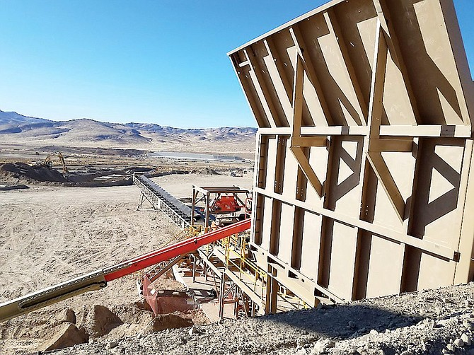 The Relief Canyon Mine is located in Pershing County; the project encompasses an open pit mine and heap leach processing facility.