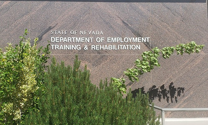 The Department of Employment, Training and Rehabilitation office in Carson City on June 4, 2020.