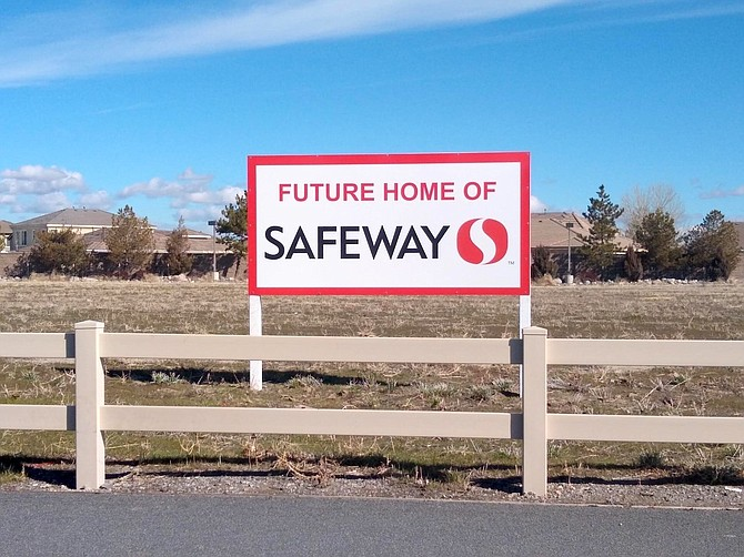 The new 62,000-square-foot Safeway is scheduled to open next spring in Damonte Ranch.