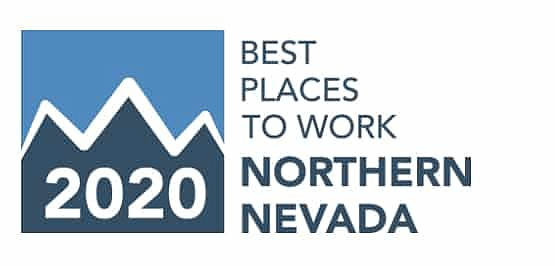 The Northern Nevada Human Resources Association's 2020 Best Places to Work logo.