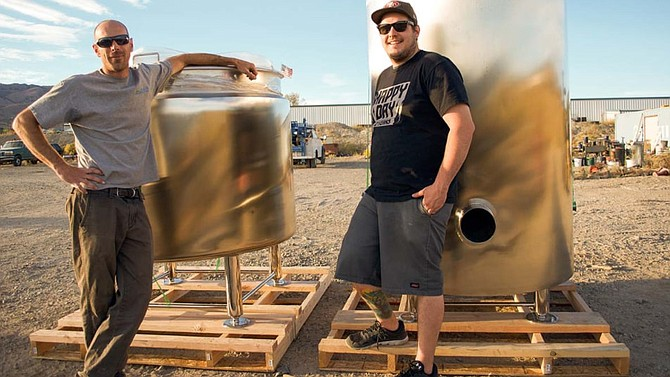 Jeff and Paul Young, co-owners of Shoe Tree Brewing Company, are brothers who moved to Carson City in 1992.