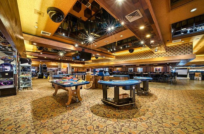The casino featured 295 slot machines and six table games, including a poker room with four tables, most of which will be auction off.